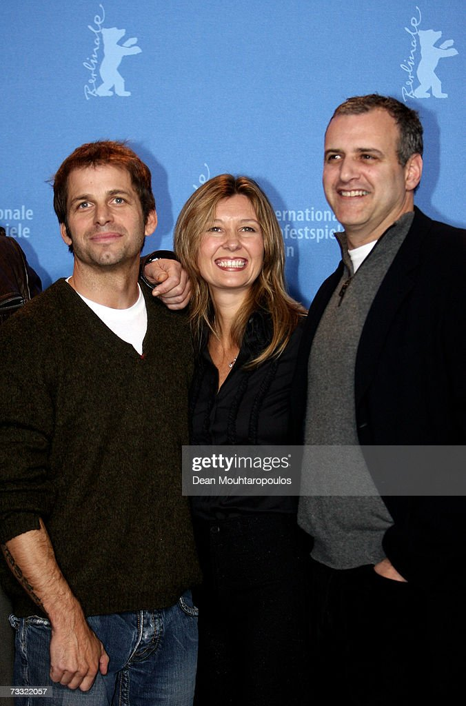 Director Zack Snyder, executive producer Deborah Snyder and producer Bernie Goldmann attend a photocall to promote the movie '300' during the 57th Berlin International Film Festival (Berlinale) on February 14, 2007 in Berlin, Germany.