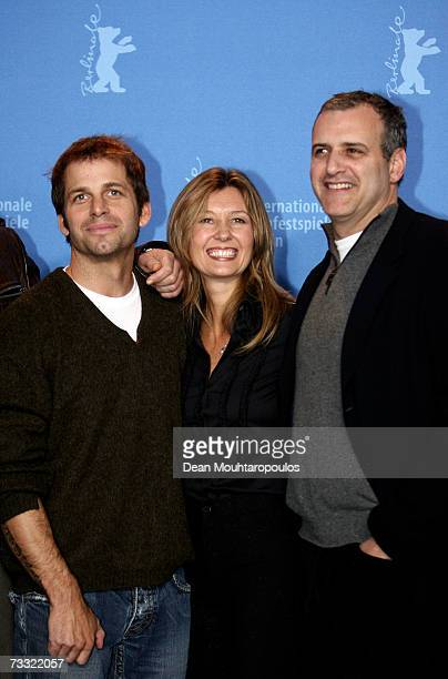 Director Zack Snyder executive producer Deborah Snyder and producer Bernie Goldmann attend a photocall to promote the movie '300' during the 57th...