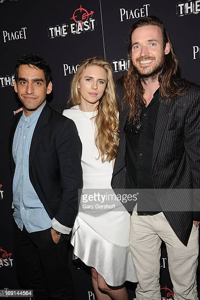 Director Zal Batmanglij actress Brit Marling and director Mike Cahill attend 'The East' premiere at Landmark's Sunshine Cinema on May 20 2013 in New...
