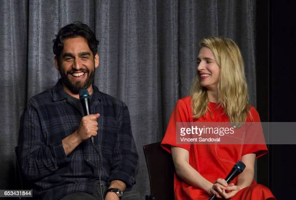 Director Zal Batmanglij and Actress Brit Marling attend SAGAFTRA Foundation The Business Creative Chemistry Collaboration On The OA at SAGAFTRA...