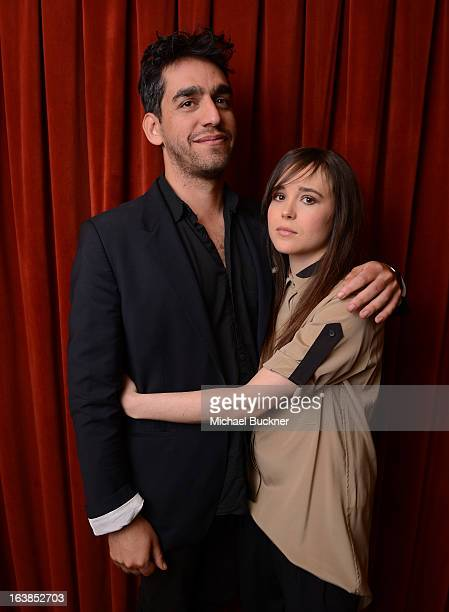 Director Zal Batmanglij and actress Ellen Page attends the premiere of 'The East' during the 2013 SXSW Music Film Interactive Festival at the...