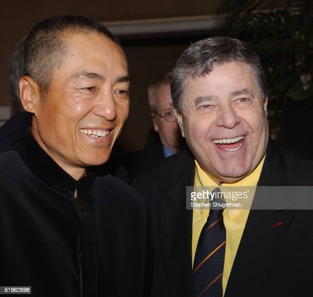 Director Zhang Yimou and actor Jerry Lewis attend The 30th Annual Los Angeles Film Critics Association Awards at The St Regis Hotel on January 13...