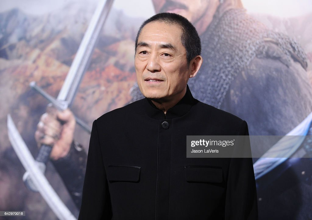 Director Zhang Yimou attends the premiere of 'The Great Wall' at TCL Chinese Theatre IMAX on February 15, 2017 in Hollywood, California.