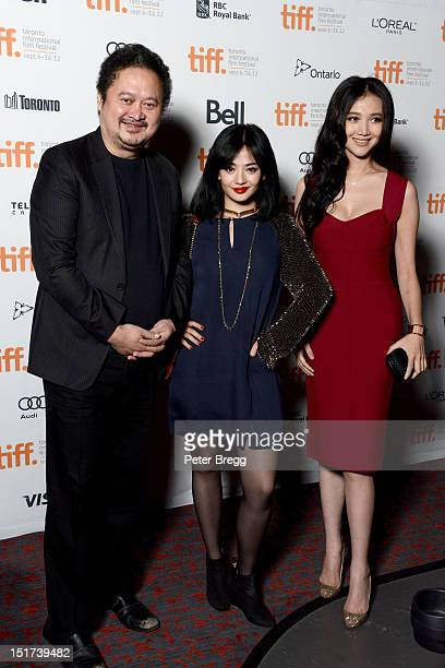 Director ZHANG Yuan and actresses Li Xinyun and Han Wenwen attend the Beijing Flickers Premiere at the 2012 Toronto International Film Festival at...