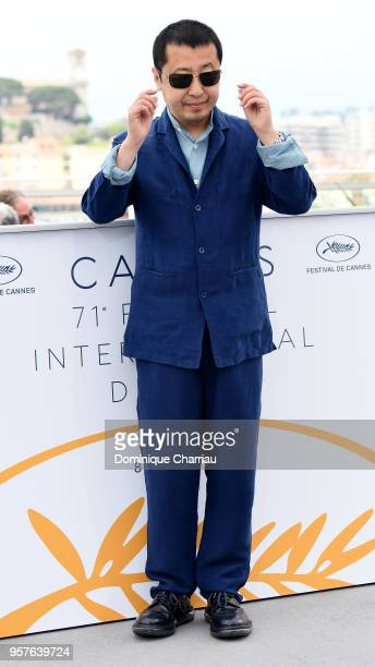 Director Zhangke Jia attends the photocall for 'Ash Is The Purest White ' during the 71st annual Cannes Film Festival at Palais des Festivals on May...