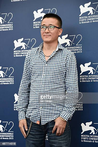 Director Zhao Liang attends a photocall for 'Behemoth' during the 72nd Venice Film Festival at Palazzo del Casino on September 11 2015 in Venice Italy
