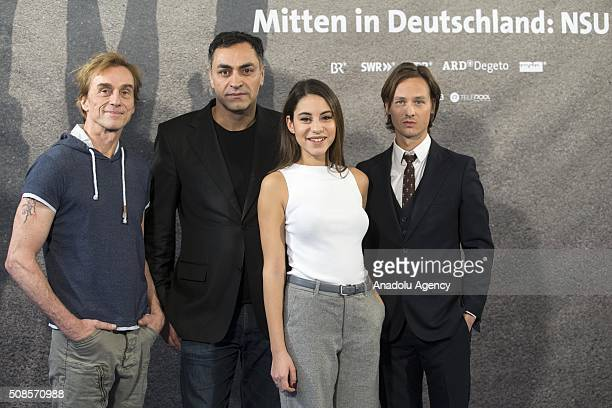 Director Zuli Aladag and actress Almila Bagriacik attend the premiere of 'Mitten in Deutschland NSU' the movie based on the National Socialist...