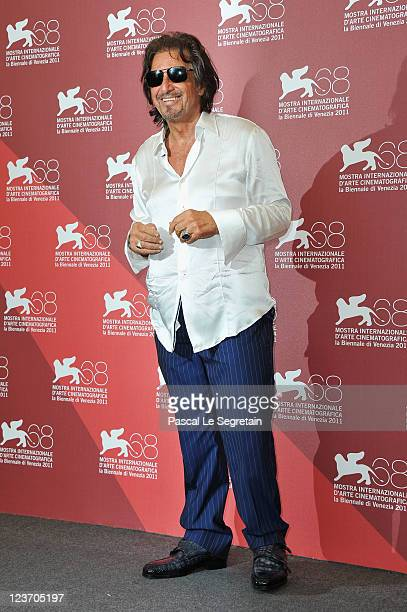 Director/actor Al Pacino poses at the Wild Salome photocall during the 68th Venice Film Festival at Palazzo del Cinema on September 4 2011 in Venice...