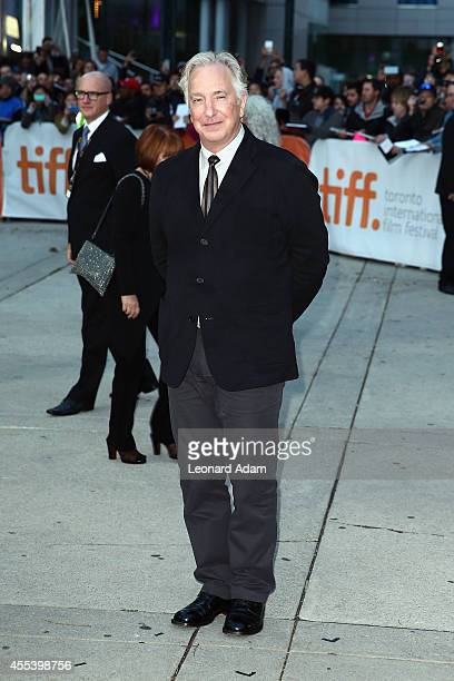 Director/actor Alan Rickman attends the A Little Chaos premiere during the 2014 Toronto International Film Festival at Roy Thomson Hall on September...