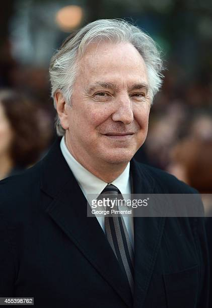 Director/actor Alan Rickman attends the 'A Little Chaos' premiere during the 2014 Toronto International Film Festival at Roy Thomson Hall on...