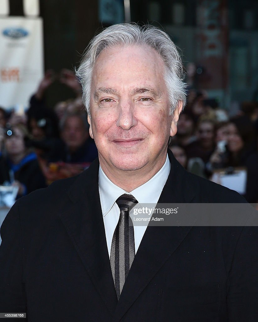Director/actor Alan Rickman attends the 'A Little Chaos' premiere during the 2014 Toronto International Film Festival at Roy Thomson Hall on September 13, 2014 in Toronto, Canada.