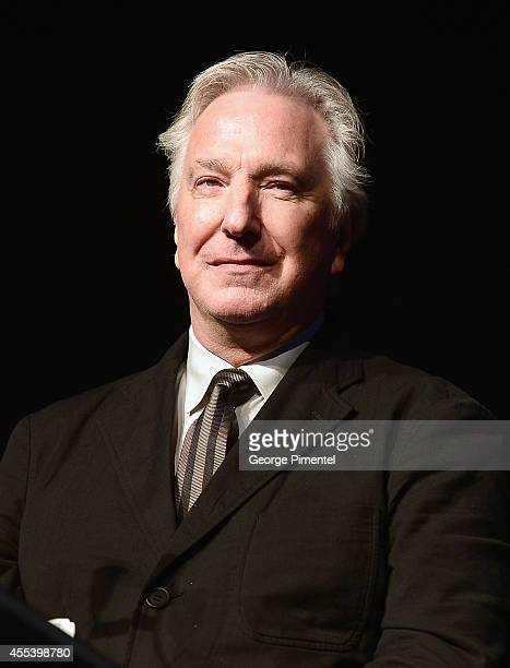 Director/actor Alan Rickman speaks onstage at the A Little Chaos premiere introduction during the 2014 Toronto International Film Festival at Roy...