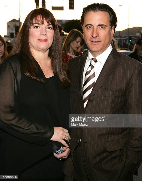 Director/actor Andy Garcia and his wife Marivi Lorido Garcia attend the premiere of The Lost City at the Cinerama Dome April 17 2006 in Hollywood...