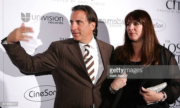 Director/actor Andy Garcia and wife Marivi Lorido Garcia attend the after party to the premiere of The Lost City April 17 2006 in Hollywood California