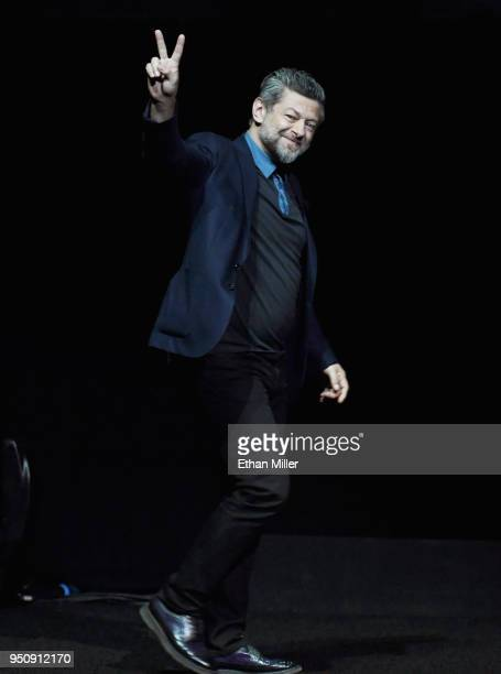 Director/actor Andy Serkis onstage during CinemaCon 2018 Warner Bros Pictures Invites You to 'The Big Picture' an Exclusive Presentation of our...