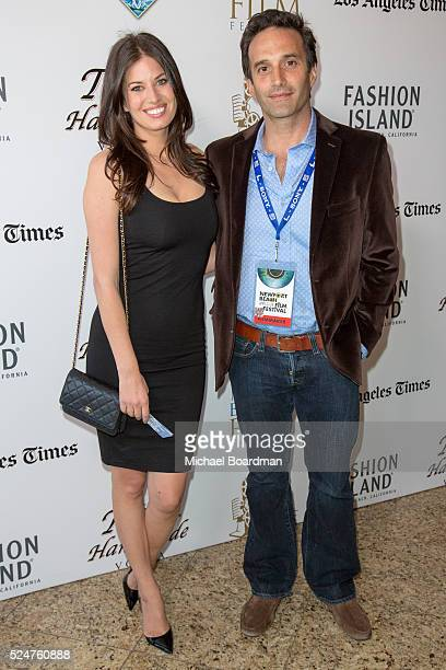 Director/Actor Chris Cordone and Actress Bree Condon attends the 17th Annual Newport Beach Film Festival premiere of Stevie D at Island Cinema on...