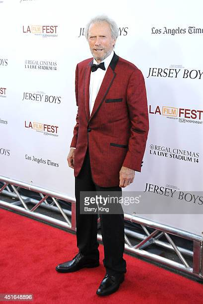 Director/actor Clint Eastwood attends the 2014 Los Angeles Film Festival closing night premiere of 'Jersey Boys' at Premiere House on June 19 2014 in...