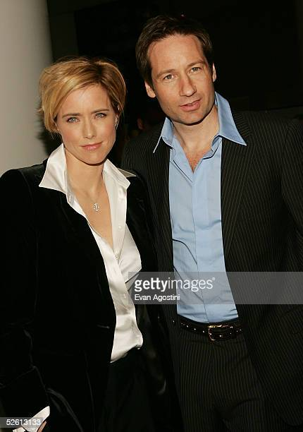 Director/actor David Duchovny and wife actress Tea Leoni attend the House Of D film premiere at Loews Lincoln Square Theater April 10 2005 in New...