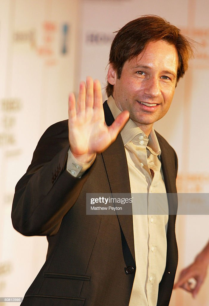 Director/actor David Duchovny arrives at the screening of 'House Of D' during the 2004 Tribeca Film Festival May 7, 2004 in New York City.