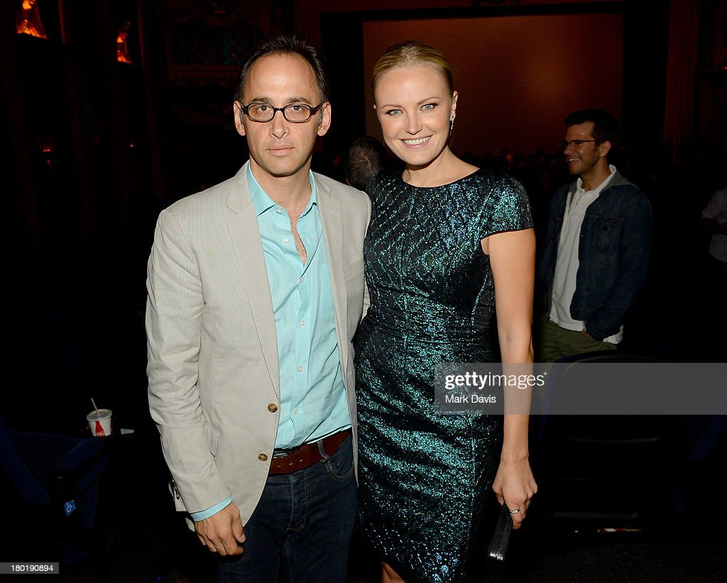 Director/actor David Wain (L) and actress Malin Akerman attend the 'Childrens Hospital' and 'NTSF:SD:SUV' screening event at the Vista Theatre on September 9, 2013 in Los Angeles, California. 24049_001_MD_0182.JPG