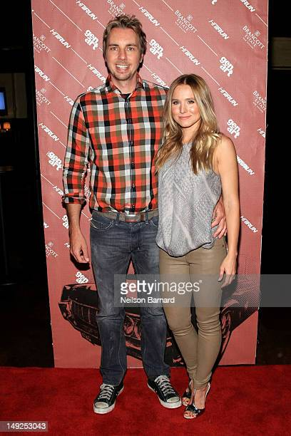 """Director/actor Dax Shepard and actress Kristen Bell attend the GenArt Screening Series Presents """"Hit & Run"""" supported by Brancott Estate Wines at..."""
