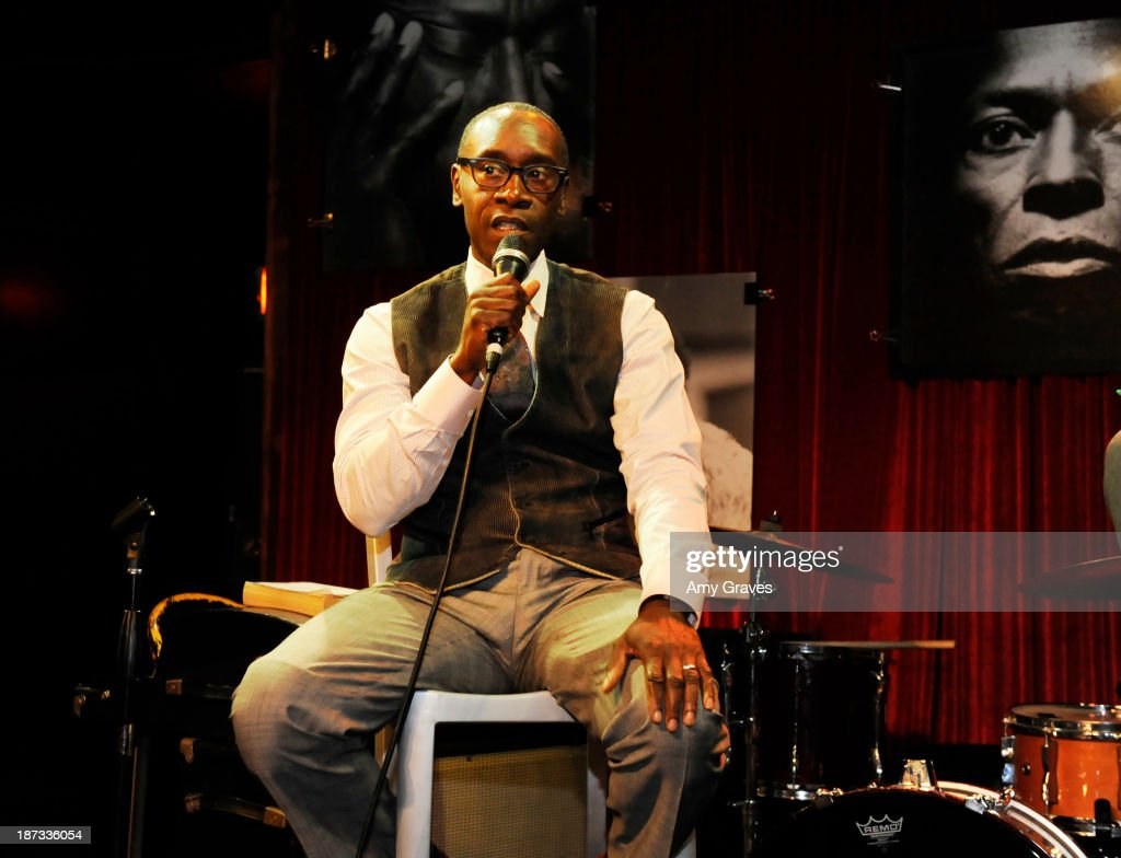 Director/Actor Don Cheadle addresses the audience at the IM Global/UTA Reception for 'Kill The Trumpet Player' on November 7, 2013 in Santa Monica, California.