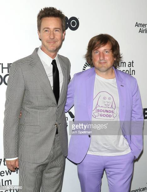 Director/actor Edward Norton and composer Daniel Pemberton attend the Motherless Brooklyn premiere during the 57th New York Film Festival on October...