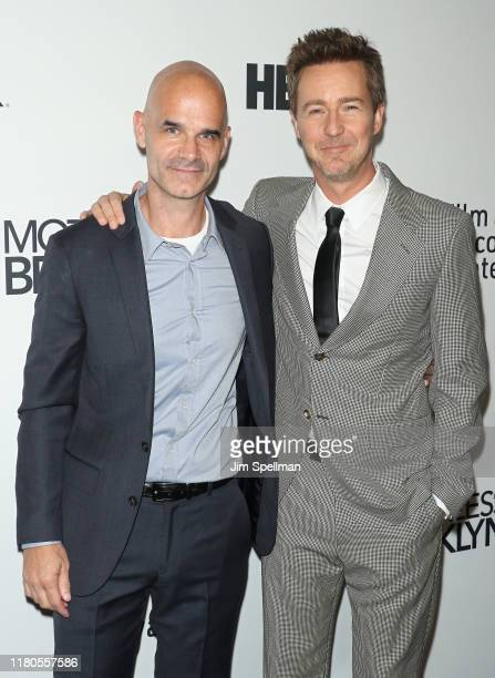 Director/actor Edward Norton and guest attend the Motherless Brooklyn premiere during the 57th New York Film Festival on October 11 2019 in New York...