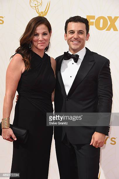 Director/actor Fred Savage and Jennifer Lynn Stone attend the 67th Annual Primetime Emmy Awards at Microsoft Theater on September 20 2015 in Los...