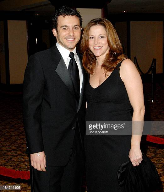 Director/actor Fred Savage and wife Jennifer Lynn Stone arrive at the 60th Annual Directors Guild of America Awards at the Hyatt Regency Century...