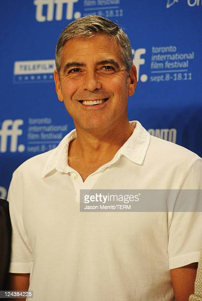 Director/actor George Clooney speaks onstage at The Ides Of March Press Conference during 2011 Toronto International Film Festival on September 9...