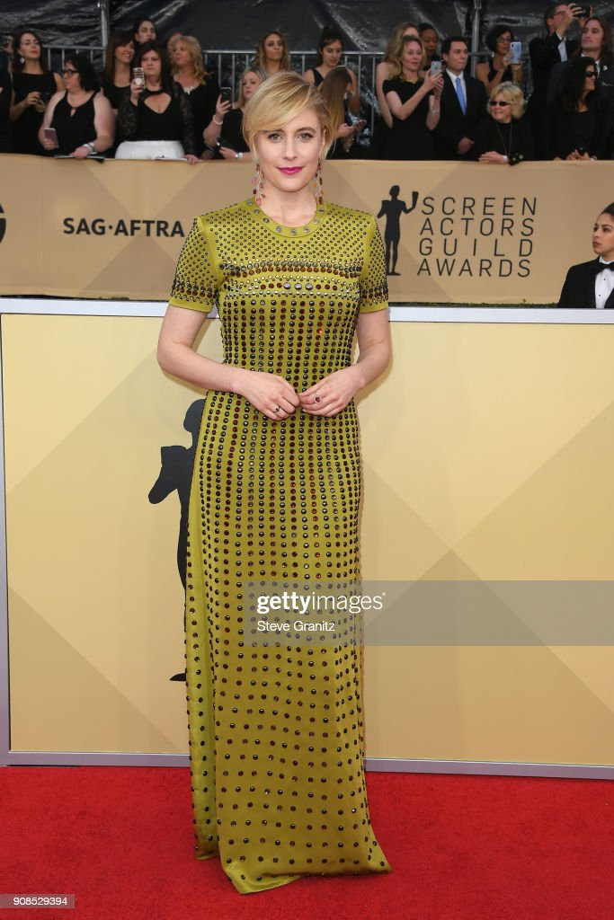 Director/actor Greta Gerwig attends the 24th Annual Screen ActorsGuild Awards at The Shrine Auditorium on January 21, 2018 in Los Angeles, California.