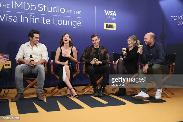 Director/actor James Franco actress Alison Brie actor Dave Franco actress Ari Graynor and actor Paul Scheer of 'The Disaster Artist' attend The IMDb...