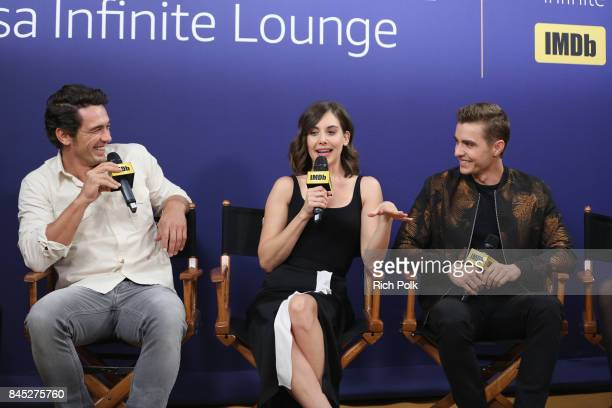 Director/actor James Franco actress Alison Brie and actor Dave Franco of 'The Disaster Artist' attend The IMDb Studio Hosted By The Visa Infinite...