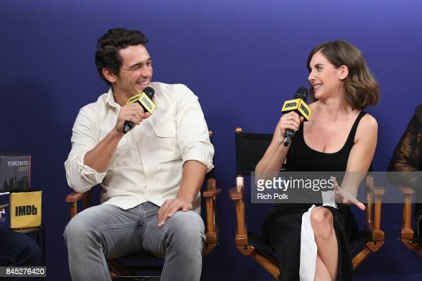 Director/actor James Franco and actress Alison Brie of 'The Disaster Artist' attend The IMDb Studio Hosted By The Visa Infinite Lounge at The 2017...