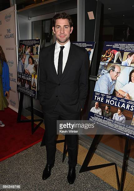 """Director/actor John Krasinski attends the premiere of Sony Pictures Classics' """"The Hollars"""" at Linwood Dunn Theater on August 22, 2016 in Los..."""
