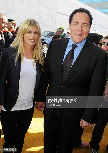 Director/actor Jon Favreau and wife Joya Tillem arrive to the 2008 MTV Movie Awards at the Gibson Amphitheatre on June 1 2008 in Universal City...