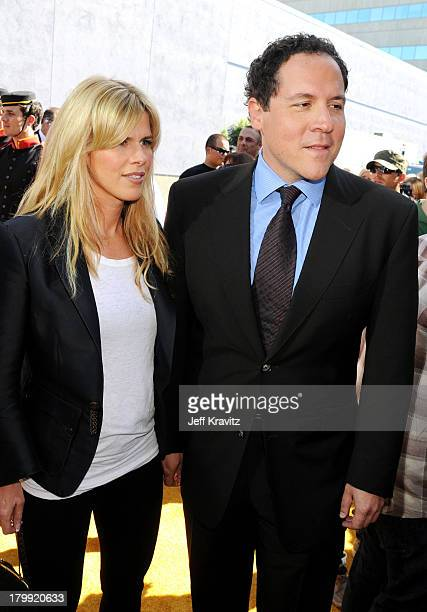 Director/actor Jon Favreau and wife Joya Tillem arrives to the 2008 MTV Movie Awards at the Gibson Amphitheatre on June 1 2008 in Universal City...