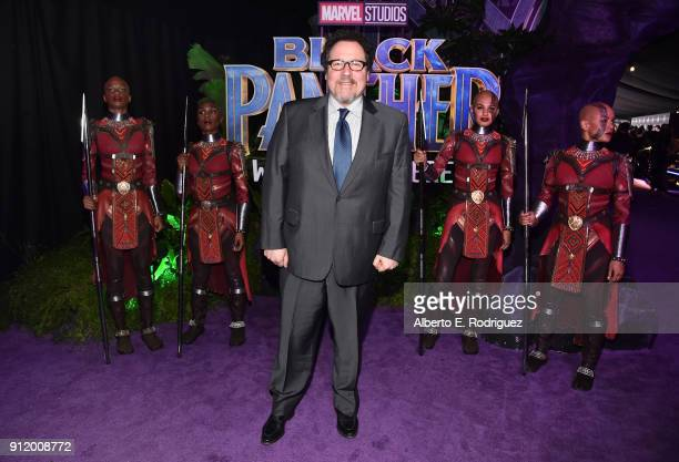 Director/actor Jon Favreau at the Los Angeles World Premiere of Marvel Studios' BLACK PANTHER at Dolby Theatre on January 29 2018 in Hollywood...