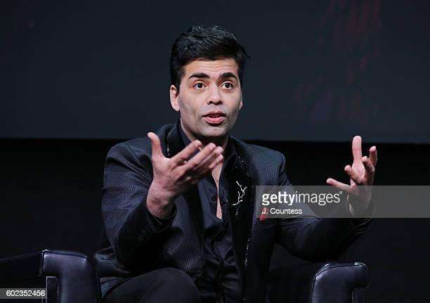 Director/actor Karan Johar speaks during the 2016 Toronto International Film Festival In Conversation With Karan Johar at Glenn Gould Studio at CBC...