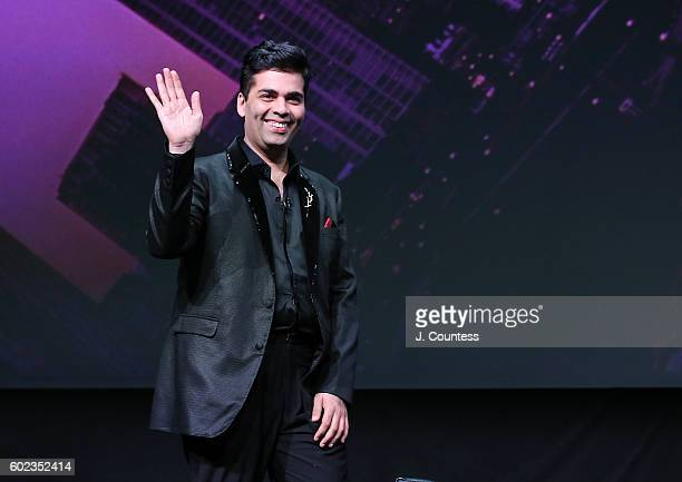 Director/actor Karan Johar takes the stage for the 2016 Toronto International Film Festival In Conversation With Karan Johar at Glenn Gould Studio at...