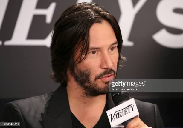 Director/Actor Keanu Reeves speaks at the Variety Studio presented by Moroccanoil at Holt Renfrew during the 2013 Toronto International Film...