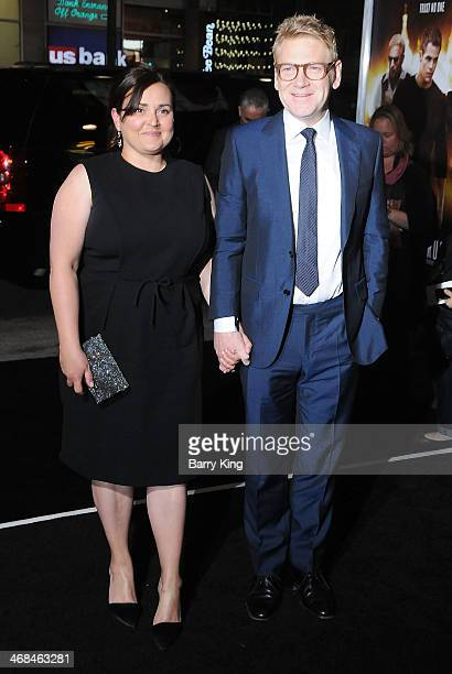 Director/actor Kenneth Branagh and his wife art director Lindsay Brunnock arrive at the Los Angeles Premiere 'Jack Ryan Shadow Recruit on January 15...