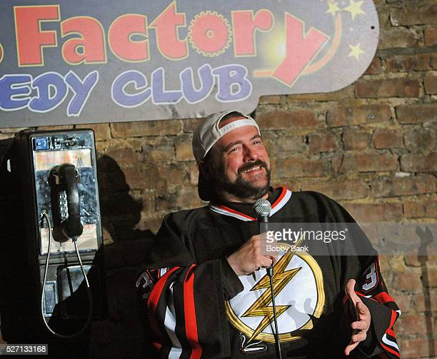 Director/actor Kevin Smith performs at The Stress Factory Comedy Club on May 1, 2016 in New Brunswick, New Jersey.