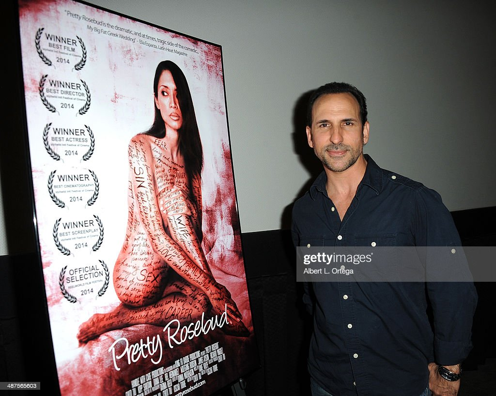 Director/actor Oscar Torre arrives for the screening of 'Pretty Rosebud' held at Laemmle NoHo 7 on April 30, 2014 in North Hollywood, California.