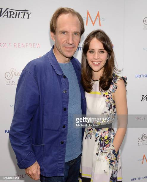 Director/Actor Ralph Fiennes and actress Felicity Jones attend Variety Studio presented by Moroccanoil at Holt Renfrew during the 2013 Toronto...