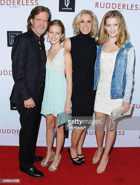 Director/actor William H Macy daughter Georgia Macy Actress Felicity Huffman and daughter Sofia Macy arrive at the Los Angeles VIP Screening...