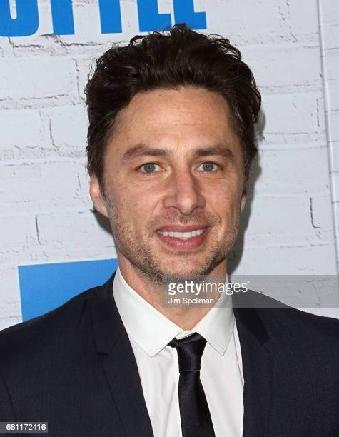 Director/actor Zach Braff attends the 'Going In Style' New York premiere at SVA Theatre on March 30 2017 in New York City