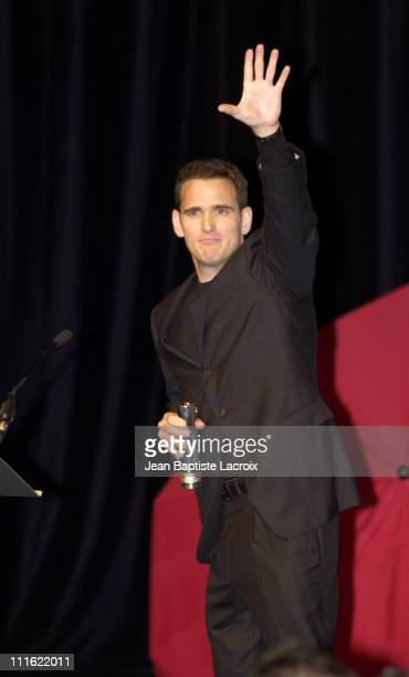 Director/actor/cowriter Matt Dillon during Deauville 2002 Tribute to Matt Dillon World Premiere of 'City of Ghosts' Inside at CID Deauville in...