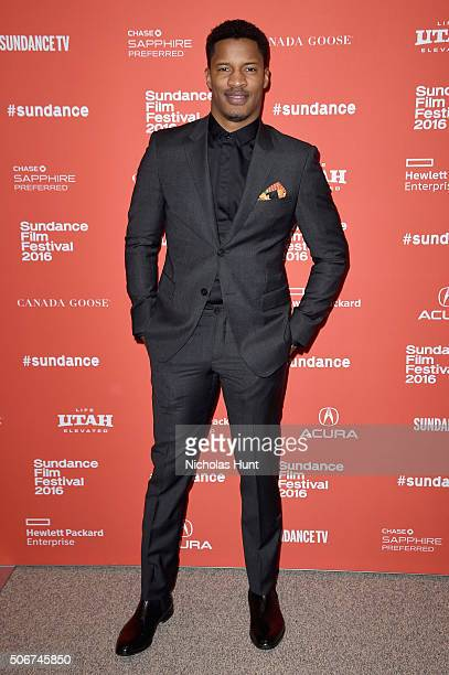 Director/actor/producer Nate Parker attends the The Birth Of A Nation Premiere during the 2016 Sundance Film Festival at Eccles Center Theatre on...